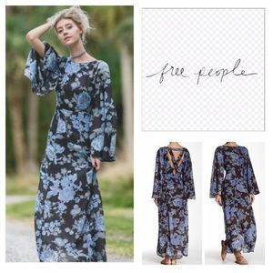 Melrose Printed Maxi Dress by Free People size 4